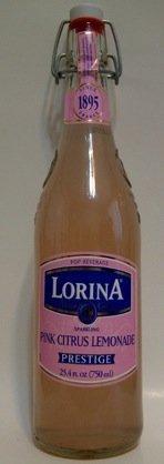 Lorina Sparkling Pink Citrus Lemonade Prestige 25.4oz (750ml Each Bottle) 2pack - Product of France by Lorina