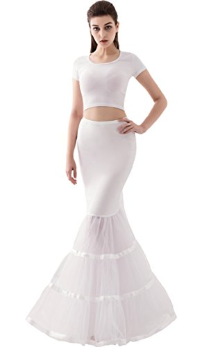 Bridal Wedding Petticoat Skirt Dress (Snowskite Womens 3 Layers Trumpet Mermaid Crinoline Wedding Dress)