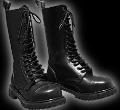 14 Trou Rangers Bottes Knightsbridge bottes noir avec Capuchon d'acier - 40 EU