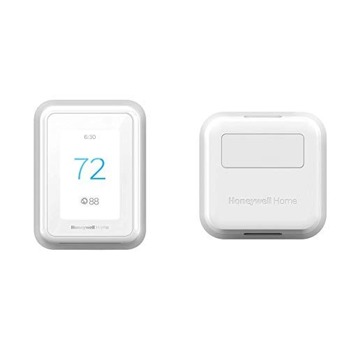 Honeywell T9 WIFI Smart Thermostat + 2pk Honeywell Home Smart Room Sensor (works with Alexa and Google Assist)