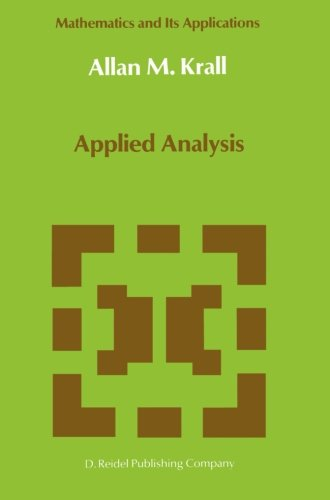 Applied Analysis (Mathematics and Its Applications)