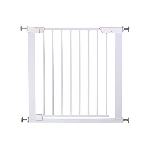 Cheap ALLAIBB Auto Close Metal Baby Gate Magnetic Walk Thru Safety Gates, White, 46.0-48.8 in