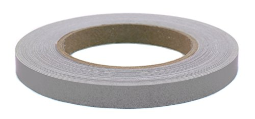 "1/2"" Gray Removable-Adhesive Labeling Tape for Color Coding 