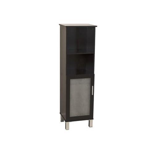 "cheap Bennie Free Standing Linen Tower Bathroom Shelves in Espresso Finish 13.75"" x 46.5"""