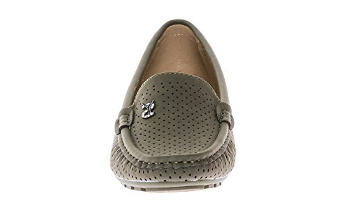 Mocassins On Flats Loafers KIKI Women's Comfort Khaki Shoes Slip CALICO nIwOxx