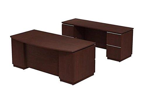Bush Executive Desk & Credenza Set 72