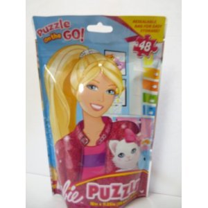 Barbie Puzzle ON the GO Precious Kitty 48 Piece Jigsaw Puzzle