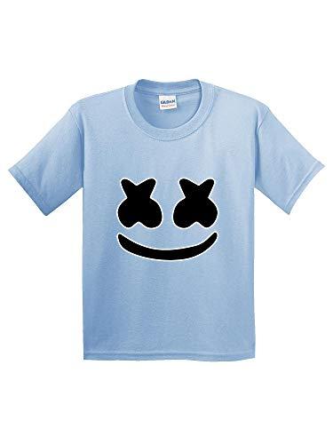 New Way 1136 - Youth T-Shirt Marshmello DJ Smiley Face Medium Light ()