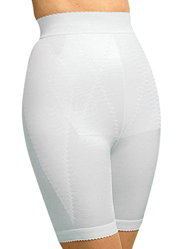 Plusform Long Leg Panty Girdle Plus Size White