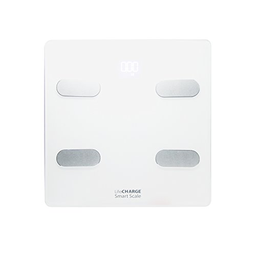 LIFECHARGE SMART SCALE AND BODY COMPOSITION ANALYZER (White) by LifeCHARGE