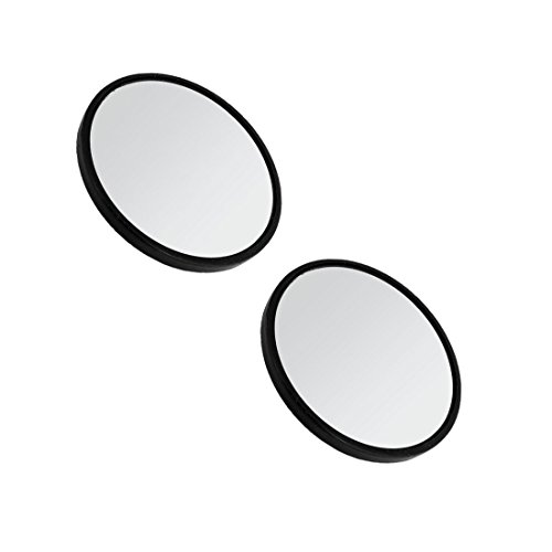 Blind Spot Mirror - TOOGOO(R) 2'' Dia Black Frame Round Rearview Blind Spot Mirror Rearmirror for Car by TOOGOO(R) (Image #1)
