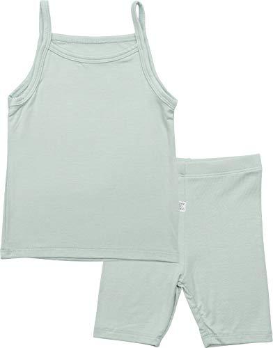 (AVAUMA Bling Plain Sleeveless Newborn Baby Little Boy Girl Pajamas Summer Sets Pjs Kids Clothes (JM/Mint))