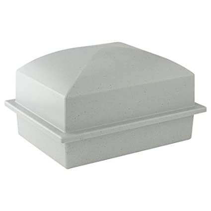 Basic Urn Single - Gray Composite Durable Urn Storage for Burial, Holds One  Cremation Urn