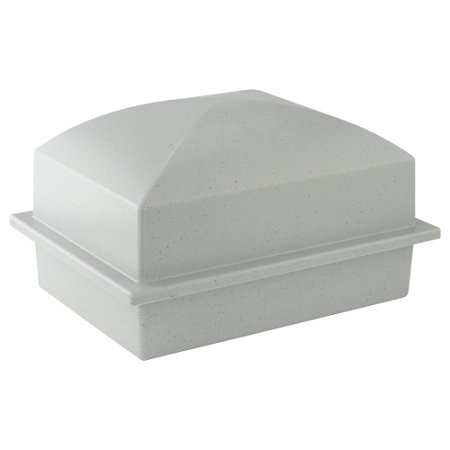 Guardian Vault Basic Urn Single - Gray Composite Durable Urn Storage for Burial, Holds One Cremation Urn (Vaults For Urns)