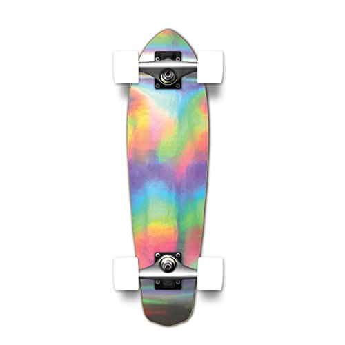 Yocaher Pro Complete Standard Skateboard & mini Cruiser - HOLOGRAPHIC -assembled boards and decks only (Complete - Micro cruiser) (Complete Micro Skateboard)