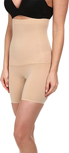 SPANX Women's Shape My Day High Waisted Mid-Thigh, Natural SM