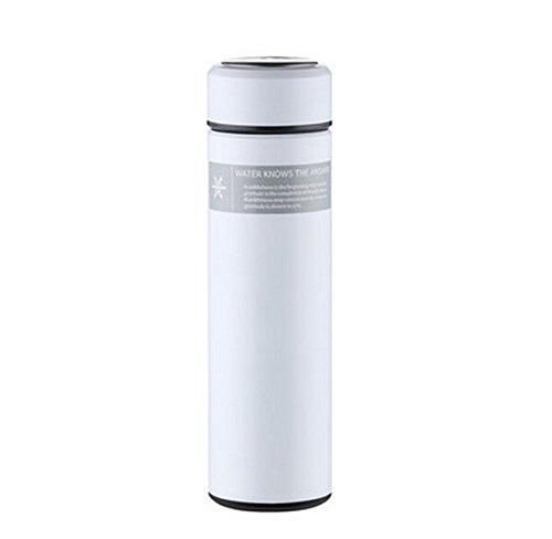 White 450Ml Stainless Steel Cup Tea Water Coffee Bottle Travel Mug by Travel Mugs