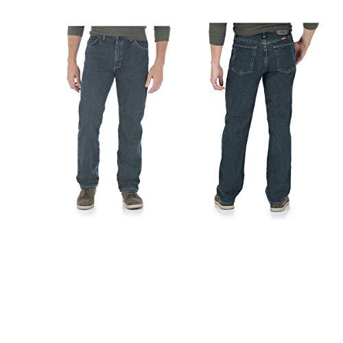 e68c5403 Wrangler Men's 5 Star Relaxed-Fit Premium Denim Jeans at Amazon Men's  Clothing store: