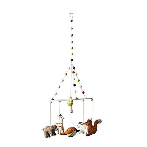 Creative Co-op Wool Felt Woodland Animal Mobile, 8.75