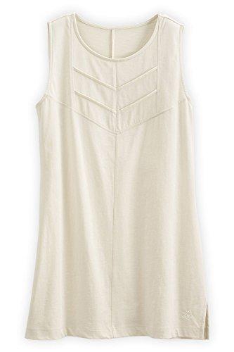 (Fair Indigo Fair Trade Organic Sleeveless Chevron Tunic (XL, Vanilla))