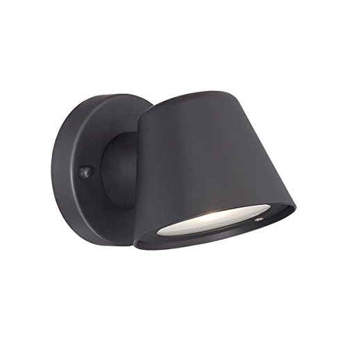 Acclaim 1404BK LED Wall Sconces Collection 1-Light Wall Mount Outdoor Light Fixture, Matte Black