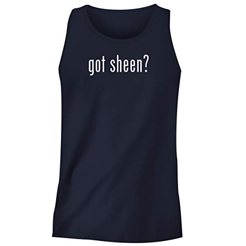 One Legging it Around got Sheen? - Men's Funny Soft Adult Tank Top, Navy, X-Large