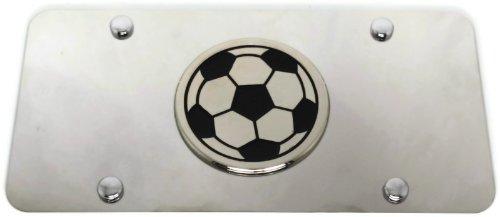 Soccer Mom Front License Plate Frame Logo on Mirror Stainless Steel - Genuine (Soccer Mom License Plate)