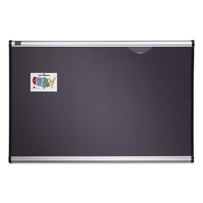 Tight Weave Fabric Board - Quartet B443A Tight Weave Fabric Board, 3'x2', Aluminum Frame