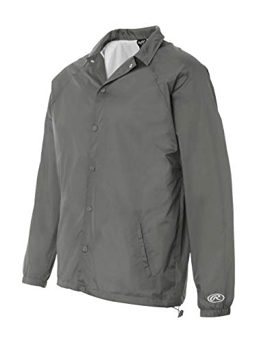 Rawlings 9718 Men's Nylon Coach's Jacket Steel Large