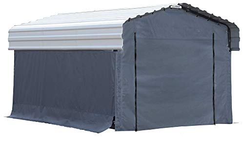 Arrow Fabric Enclosure Kit with UV Treated Cover for 10 x 15-Feet Carports, 10' x 15' (Metal carport Not - Carport Shelter Boat