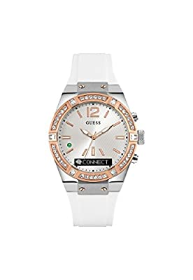 GUESS Women's Stainless Steel Connect Smart Watch - Amazon Alexa, iOS and Android Compatible iOS and Android Compatible