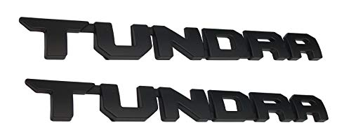 2 Pack Powertech Matte Black Tundra Door Emblem Sticker Badges For 2013-2018 SR5 1974 TRD PRO