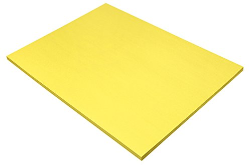"Pacon SunWorks Construction Paper, 18"" x 24"", 50-Count, Yellow (8417)"