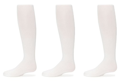 Trimfit Girls Microfiber Tights 3-Pack (8-10, White)