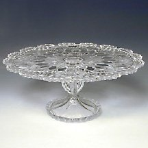 CRYSTAL GIFTWARE ROYALTY CAKE PLATE (Royalty Cake Plate)