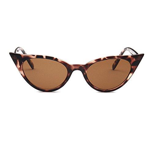Sol Leopardo LINNUO Mujer Ojo Gato Clásico de Sunglasses Eyewear Hombres Retro Marrón Unisex Gafas de tqnWPr1t6