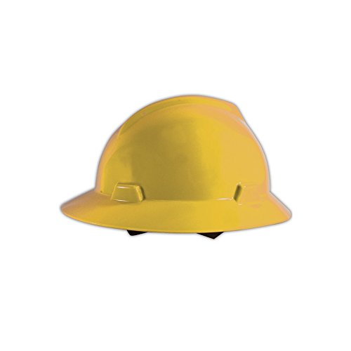 MSA 475366 V-Gard Slotted Protective Hard Hats with Fas-Trac Suspension, Standard, Yellow , Standard by MSA