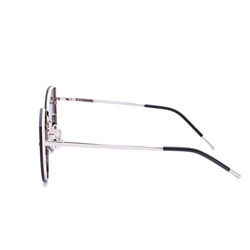 de Mercury gafas sol gafas personalidad White cara Ojo Alger gato mujer gran silver mercury marco retro white Frame redonda de de frame Silver nf6I7nWBx