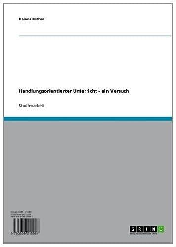 Téléchargement gratuit de livres en ligne pdf Handlungsorientierter Unterricht - ein Versuch (German Edition) in French PDF FB2 iBook B007GHAOII