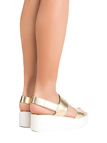 J. Adams Casey Platform Sandal - Comfortable Double Band Ankle Strap Flatforms