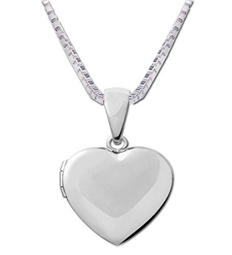 Child Locket - Girl's Classic Sterling Silver Classic Heart Locket Necklace