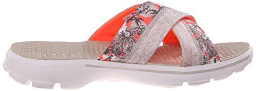 Skechers Damen Performance Go Walk Fidschi Flip Flop Natürliche Korallenblume