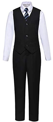 (Boys Suits Kids Vest and Pants Set Formal Wear Outfit Suit for Wedding Size)
