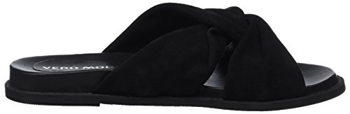 VERO MODA Damen Vmcelia Leather Sandal Pantoletten Schwarz (Black)