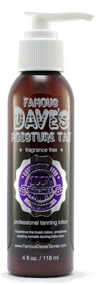 Moisture Tan Famous Dave's *15,000 TESTIMONIALS* Self Tanner 4 fl oz. Professional Tanning Lotion