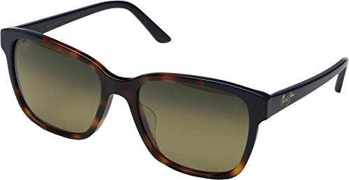 Maui Jim Moonbow Polarized Sunglasses Tortoise with Navy Blue / HCL Bronze One - Oblong Sunglasses Face