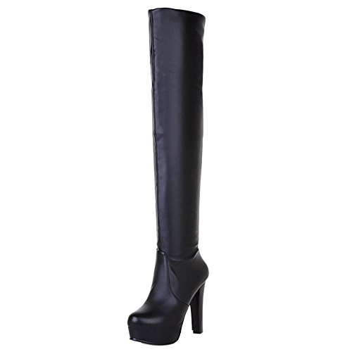 Pull On Black COOLCEPT Fashion Women Boots qSR0xFt0