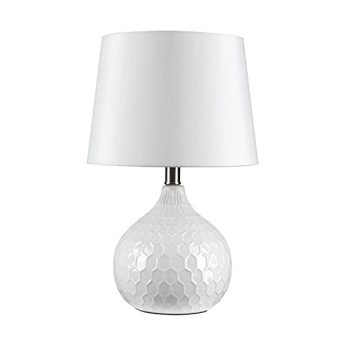 - GLOBE ELECTRIC 12912 Table Lamp, White