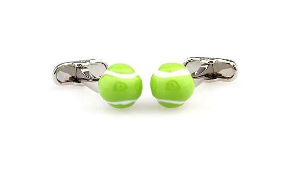 Gemelos Pelota de Tenis-Padel 3D: Amazon.es: Joyería