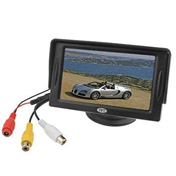 Uniqus 4.3 inch TFT LCD Car Rearview Monitor with Stand and Sun Shade(Black)
